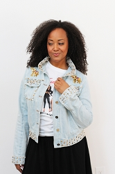 Pyramid Studded Denim Jacket