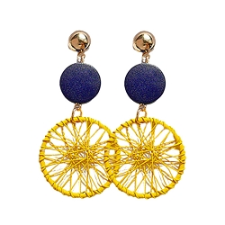 GOLD & BLUE DREAMCATCHER EARRINGS