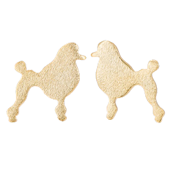 MINI GOLD POODLE STUD EARRINGS